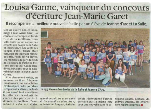 Le Progrès (Jura) - 28 juin 2015