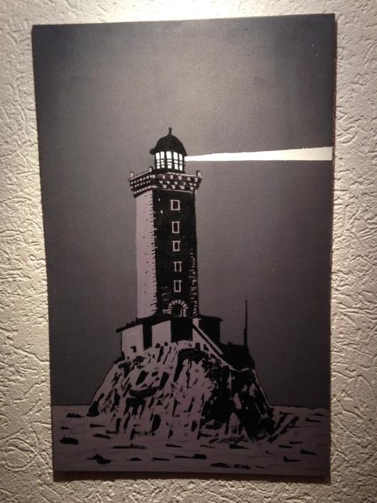 Le phare des Triagoz revisité par Gilbert Rousseau