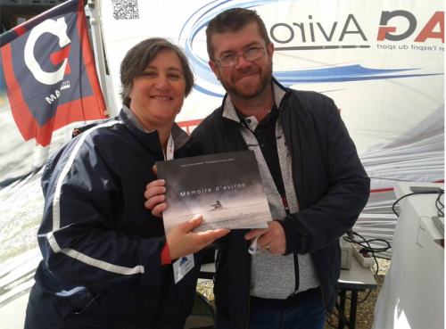 Cathy Mamacat et Fabrice Petit - Stand Mag Aviron - Libourne - 30 avril 2016