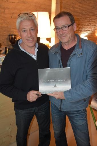 Avec Stéphane, l'un des acteurs de l'aviron dolois (Photographie - Michel MARILLY - Le Progrès)