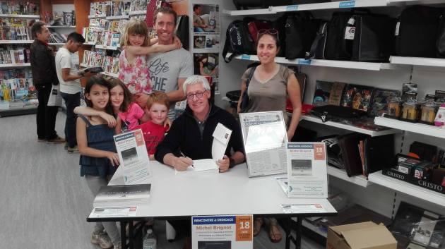 Librairie Develay - Chalon-sur-Saône - J'ai reçu la visite du rameur chalonnais Fabrice Moreau et toute sa petite famille