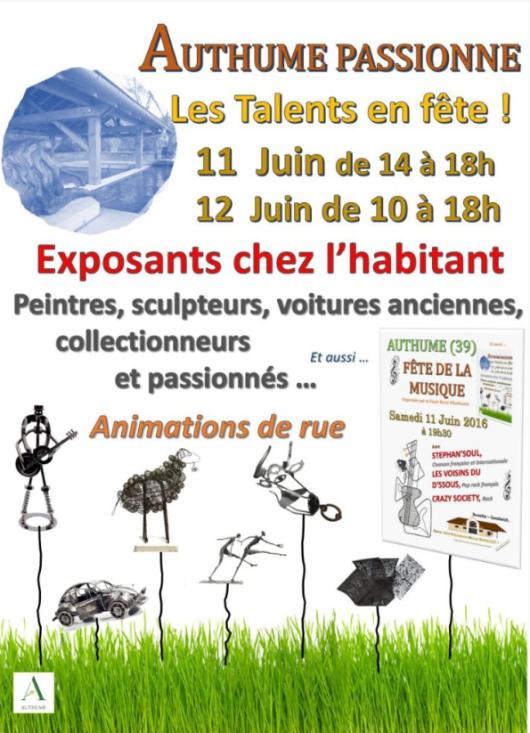 Authume (Jura) - Talents locaux - 11 et 12 juin 2016