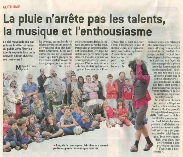 Le Progrès - Dole (Jura) - 14 mai 2016