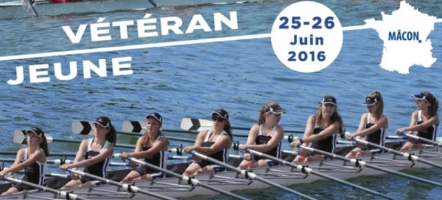 Championnat de France d'aviron Jeune et Vétéran - Mâcon -  25 et 26 juin 2016