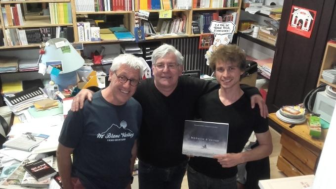 Dole (Jura) - 4 juin 2016 - Librairie Passerelle - Michel Brignot, Philippe Thiéfaine et Anthony Benoit