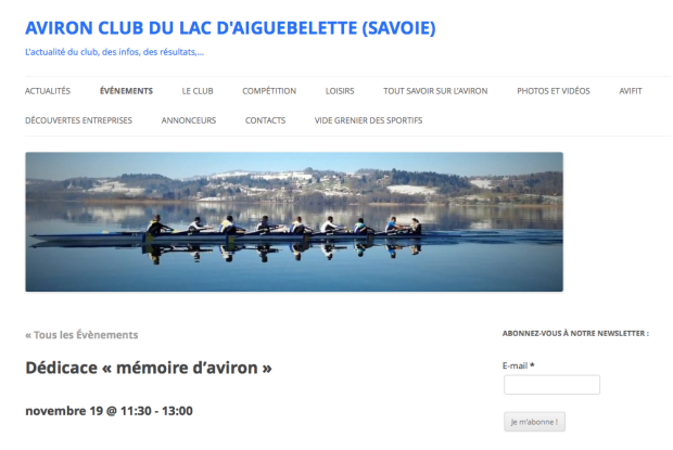 Aviron Club du Lac d'Aiguebelette - Site internet du club